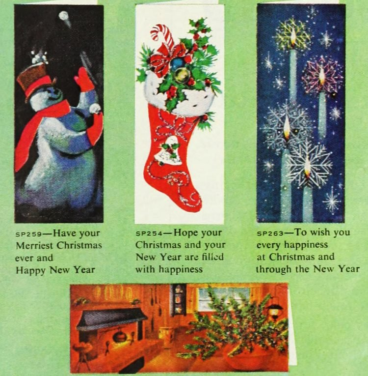 Cute retro Christmas cards from 1959 (1)