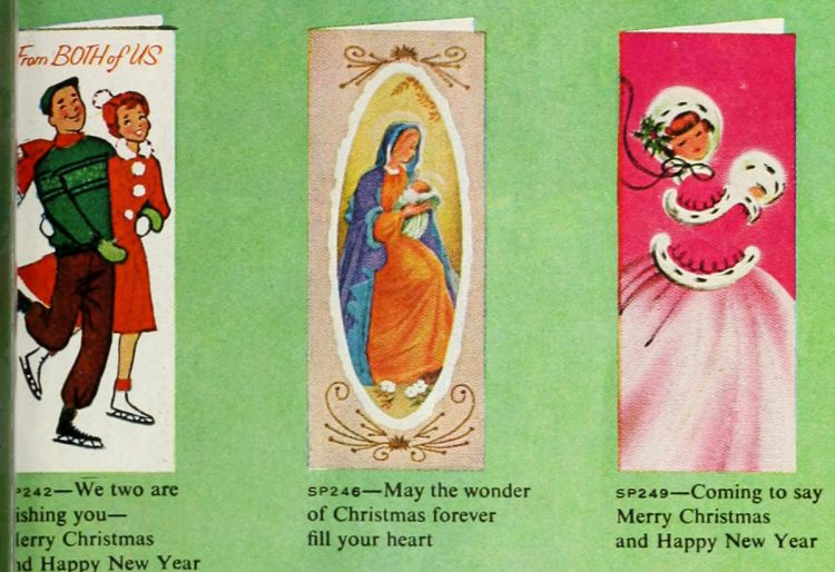 Cute retro Christmas cards from 1959 (2)