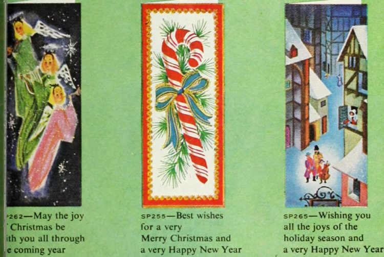 Cute retro Christmas cards from 1959 (3)