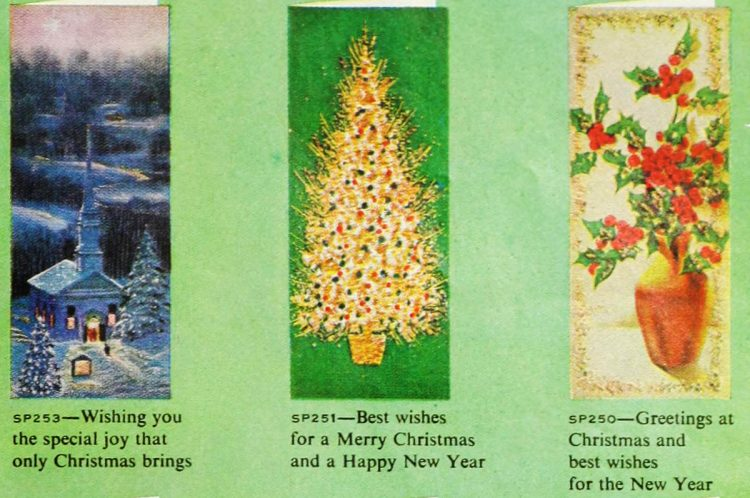 Cute retro Christmas cards from 1959 (4)