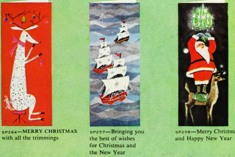 Cute retro Christmas cards from 1959 (5)