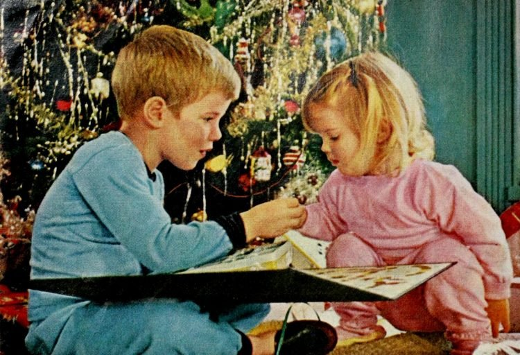 Cute vintage Christmas scenes from 1964 (2)