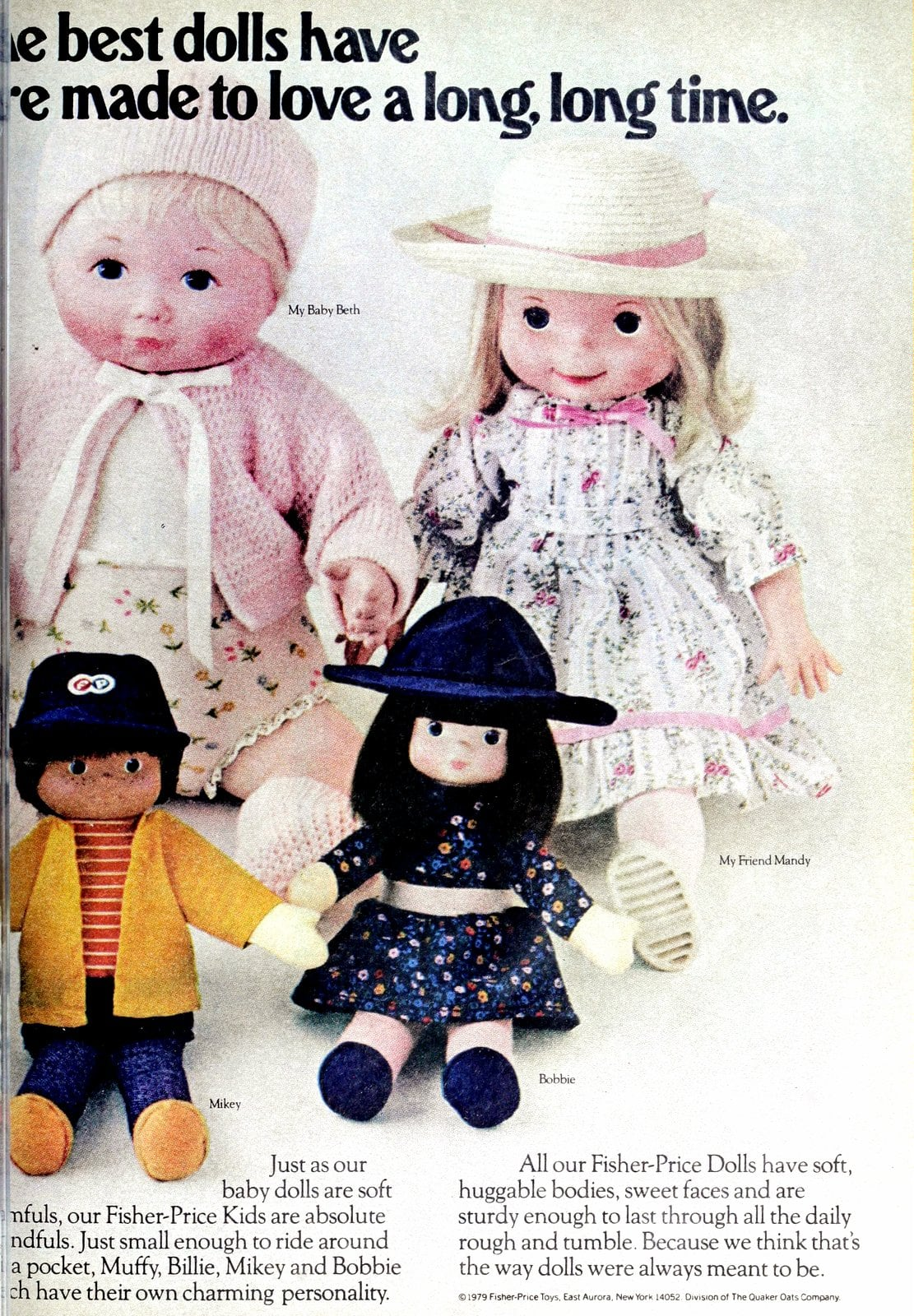 Cute vintage Fisher-Price dolls from 1979 (1)