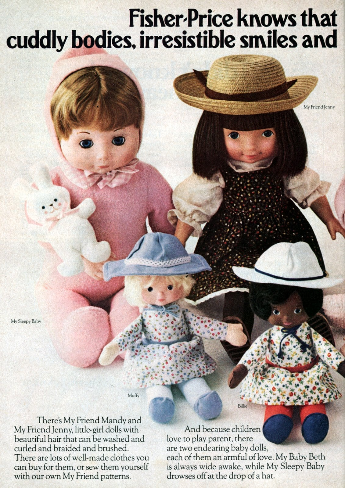 Cute vintage Fisher-Price dolls from 1979 (2)
