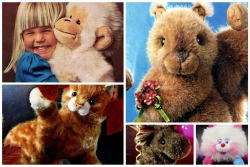 Cute vintage plush toys and stuffed animals from the 80s