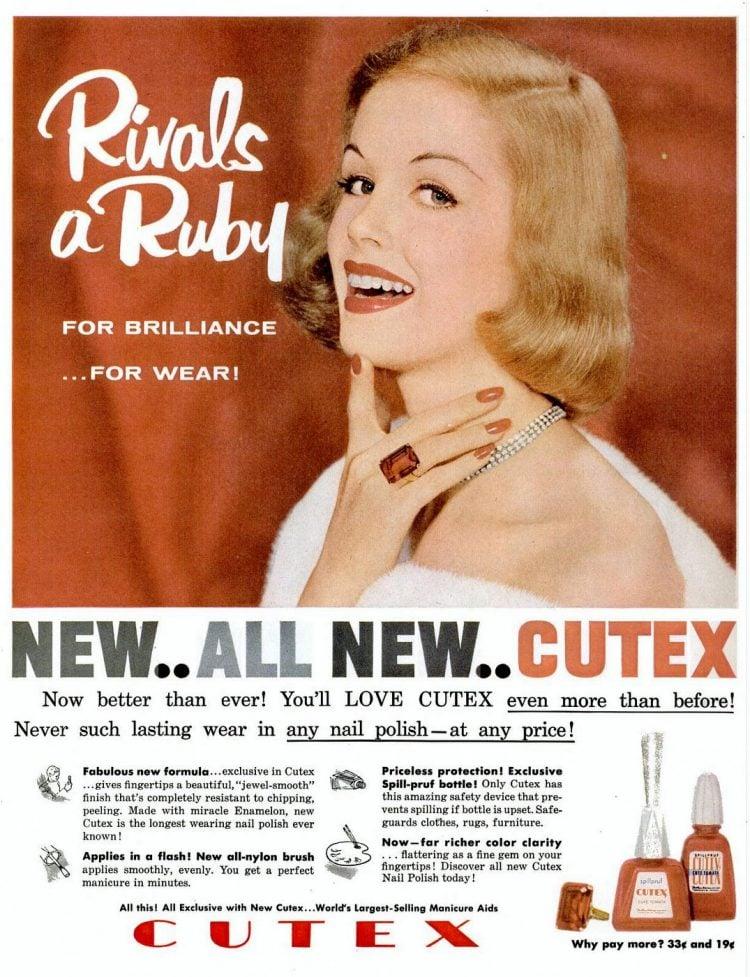 Cutex nail polish beauty from 1957