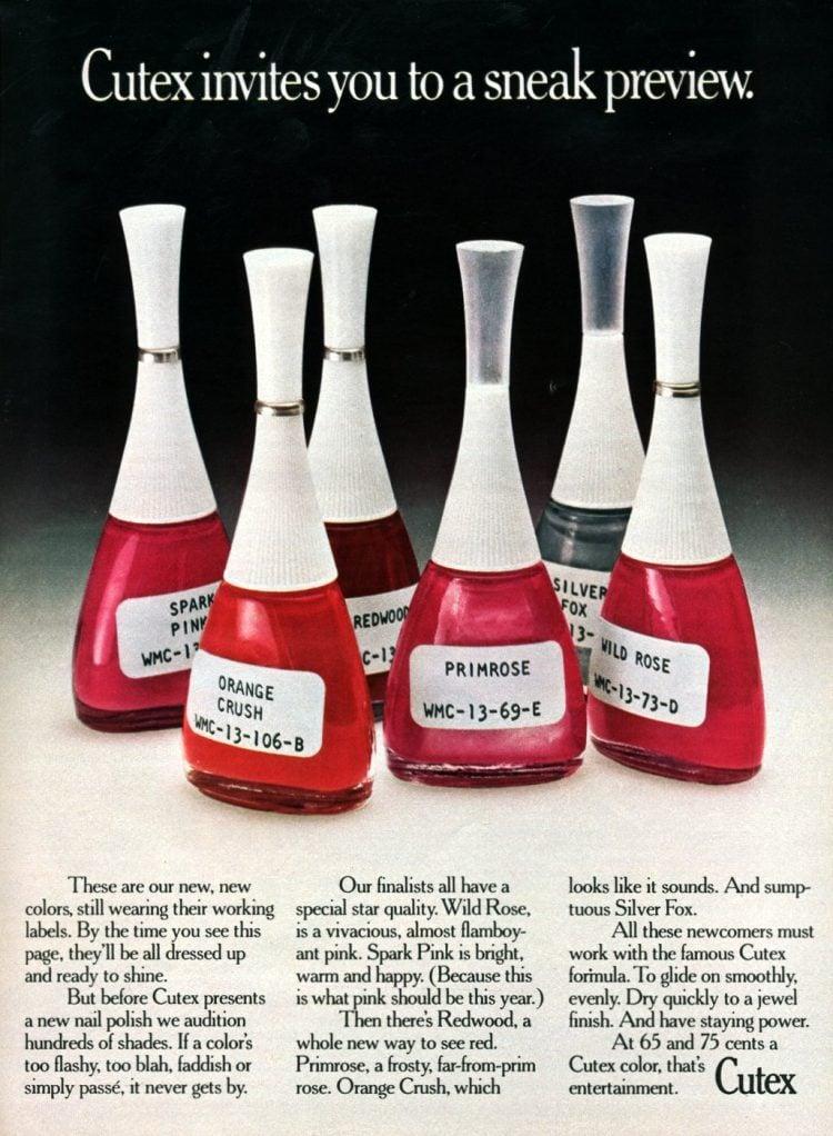 Cutex nail polish from 1974