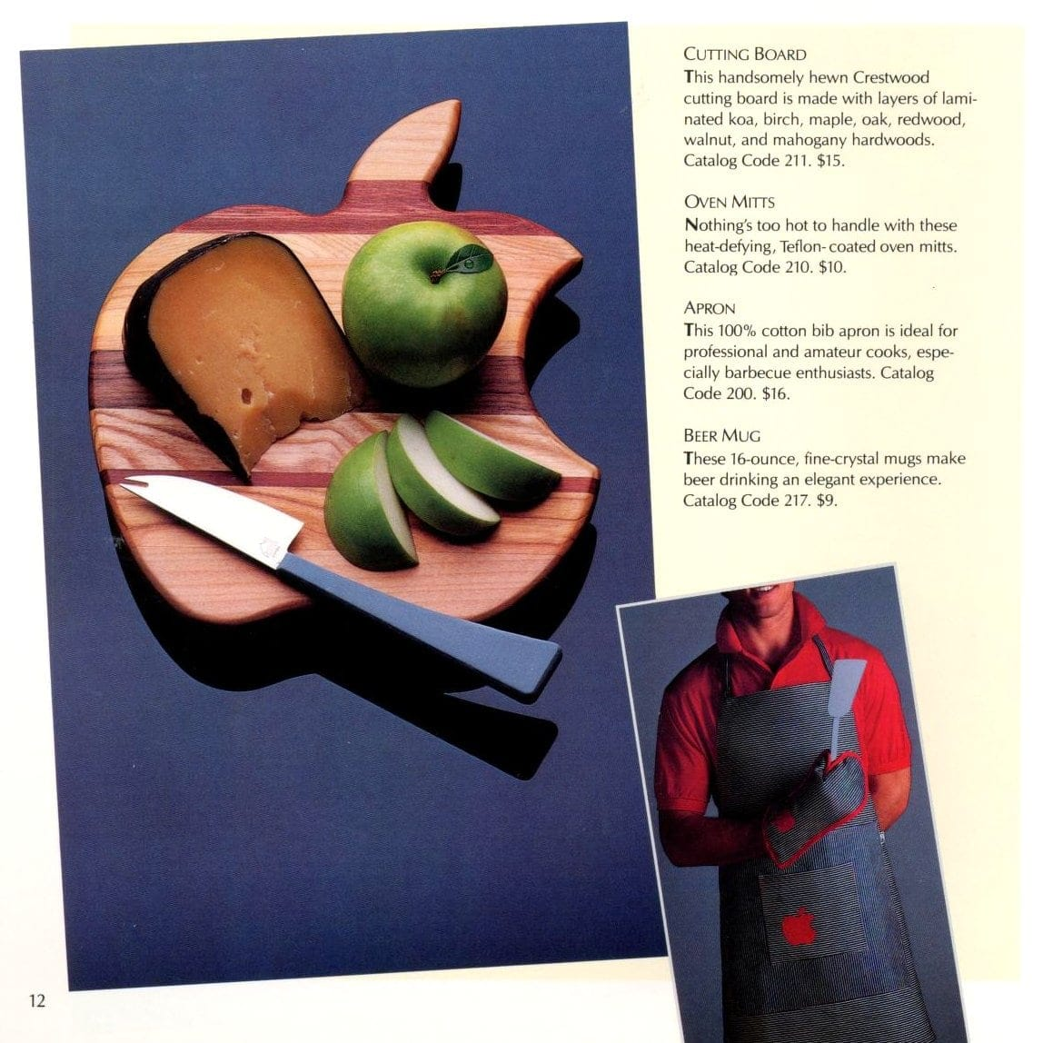 Cutting board and apron
