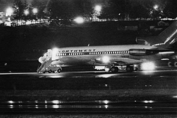 DB Cooper - hijacked Northwest Orient Airlines Boeing 727