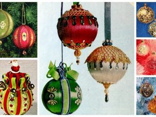 DIY Christmas ornament crafts from the '60s