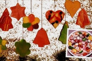 DIY Christmas ornaments made from hard candy (1987)