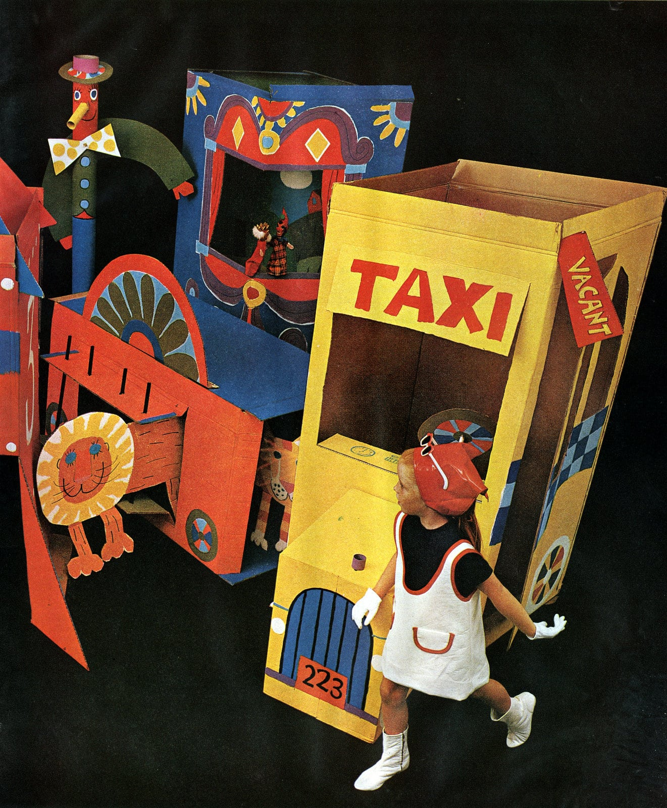 DIY cardboard box forts and playhouses