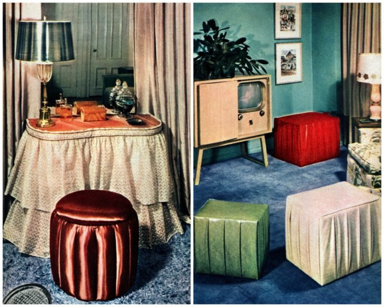 DIY furniture from the fifties - hassocks
