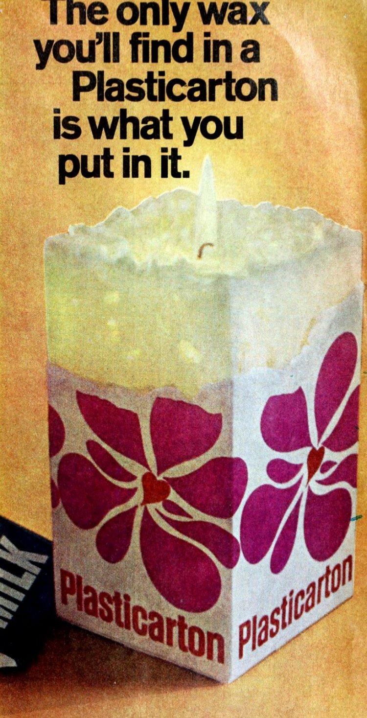 DIY milk carton candle