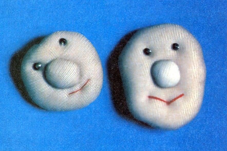 DIY puffy happy face pin craft (1981)