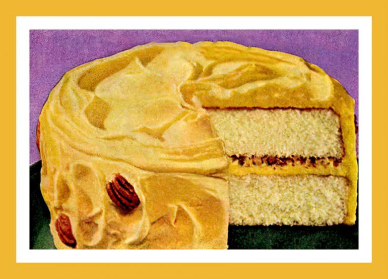 Daffodil pecan vintage cake recipe