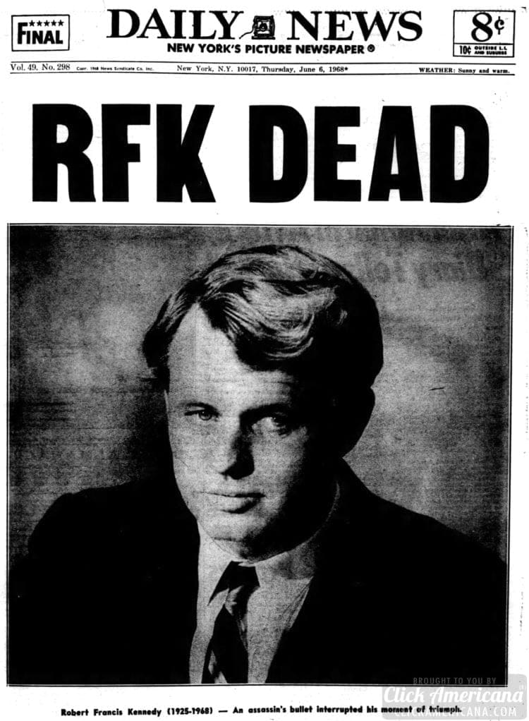 Daily_News NY RFK killed - June 6 1968