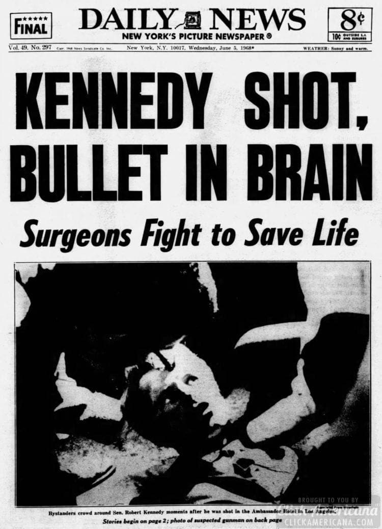 Daily_News NYC RFK shot - June 6 1968