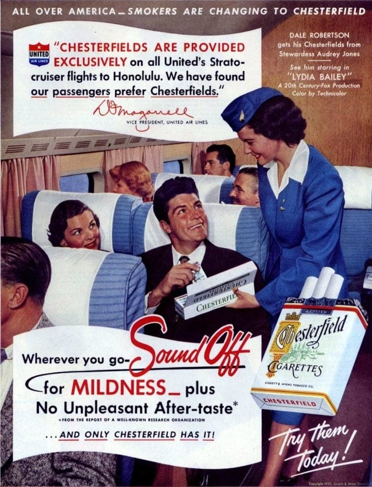 Inflight cigarettes