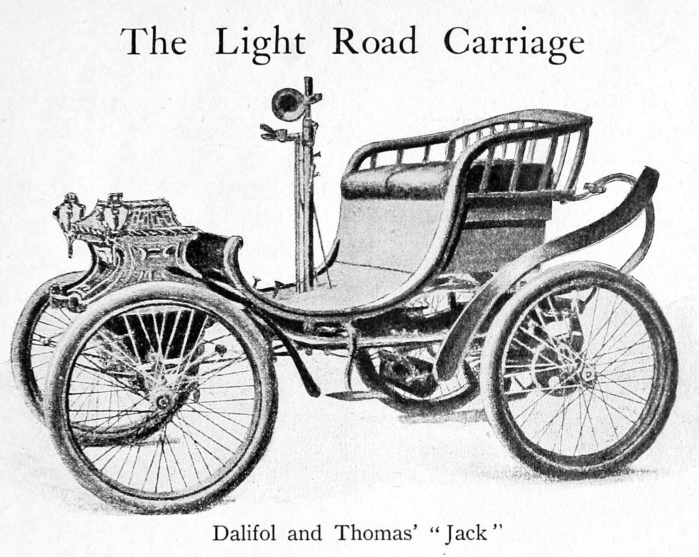 Dalifol and Thomas' Jack light road carriage (1900s)