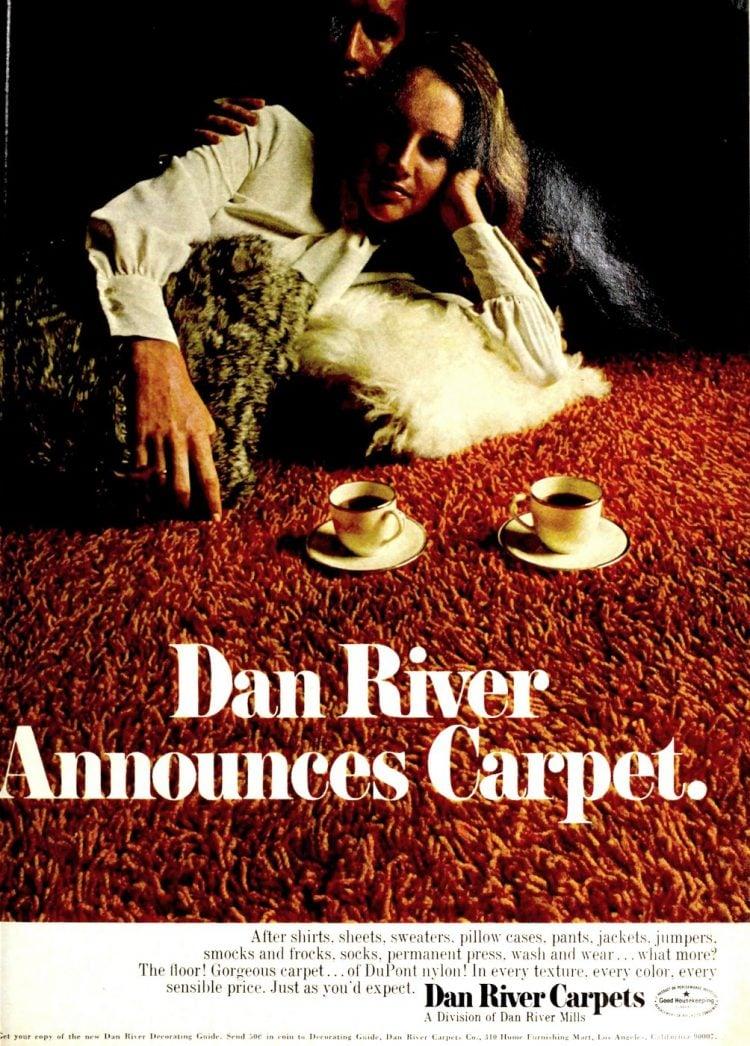 Dan River shag carpeting from 1970