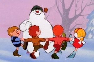 Dancing around Frosty the Snowman