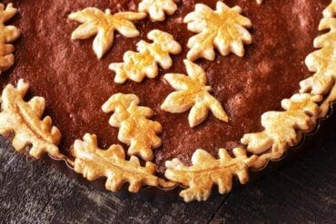 Dark and delicious pumpkin pies with brown sugar & molasses