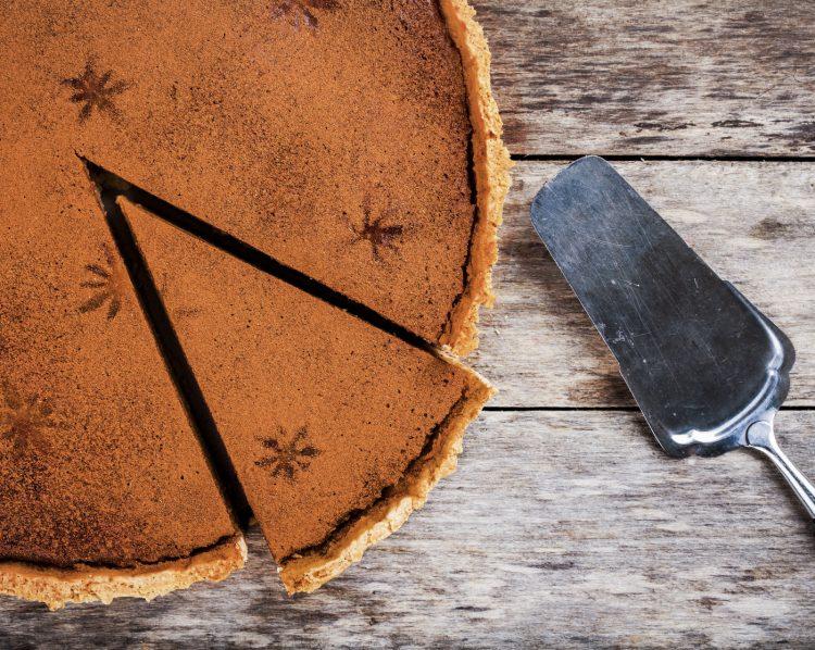 Dark traditional pumkin pie recipe