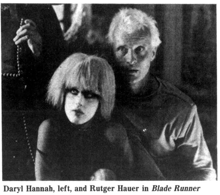 Daryl Hannah and Rutger Hauer in Blade Runner 1982