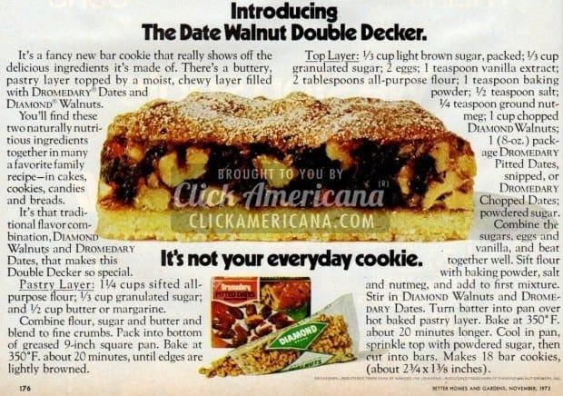 The Date Walnut Double Decker Cookie (1972)