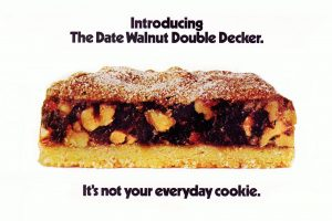 Date-walnut double decker bar cookie classic recipe (1972)