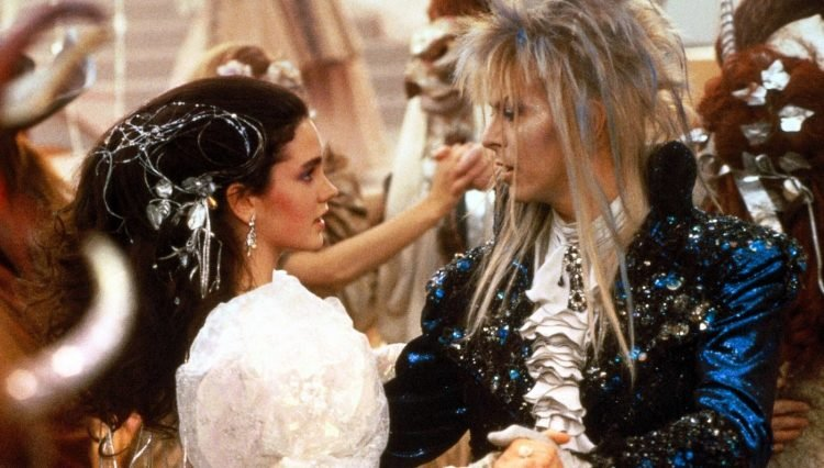 David Bowie Jennifer Connelly in Labyrinth movie 1986