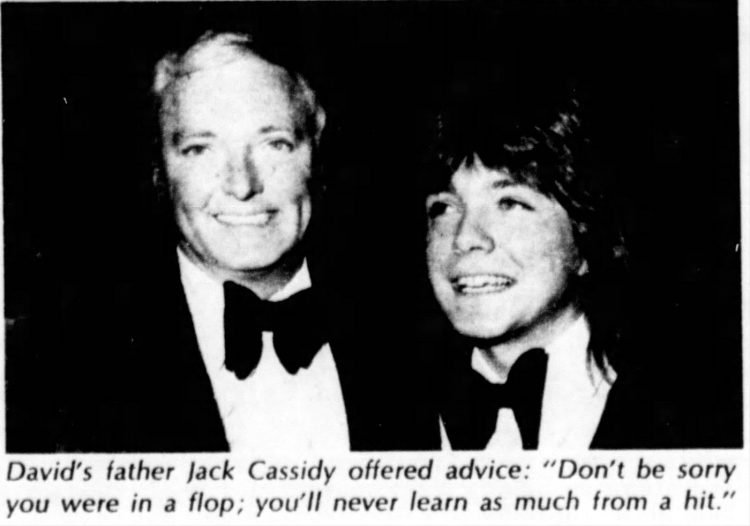 David Cassidy and father Jack Cassidy - 1972