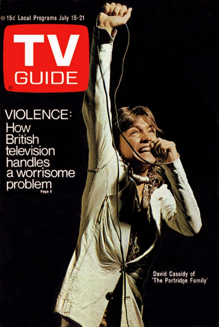 David Cassidy on the cover of TV Guide