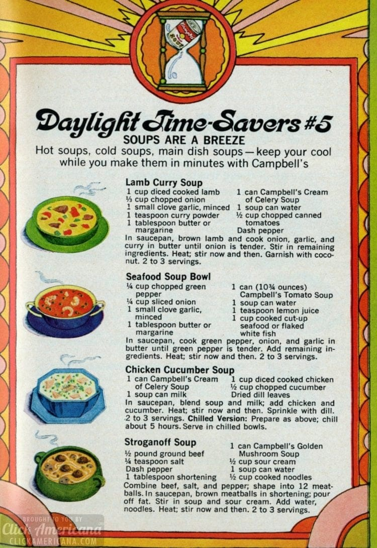Daylight time savers 5 Quick easy summer recipes (1969)
