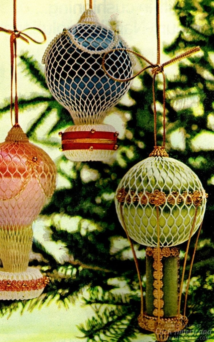 Dazzling, jewel-like vintage Christmas balloon craft (1967)