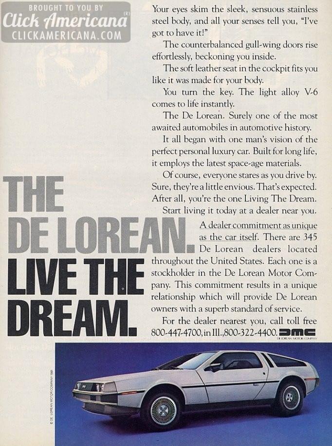 The DeLorean: Live the dream (1982)