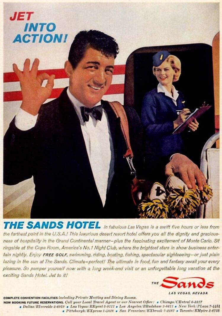 Dean Martin for Sands Las Vegas hotel 1962