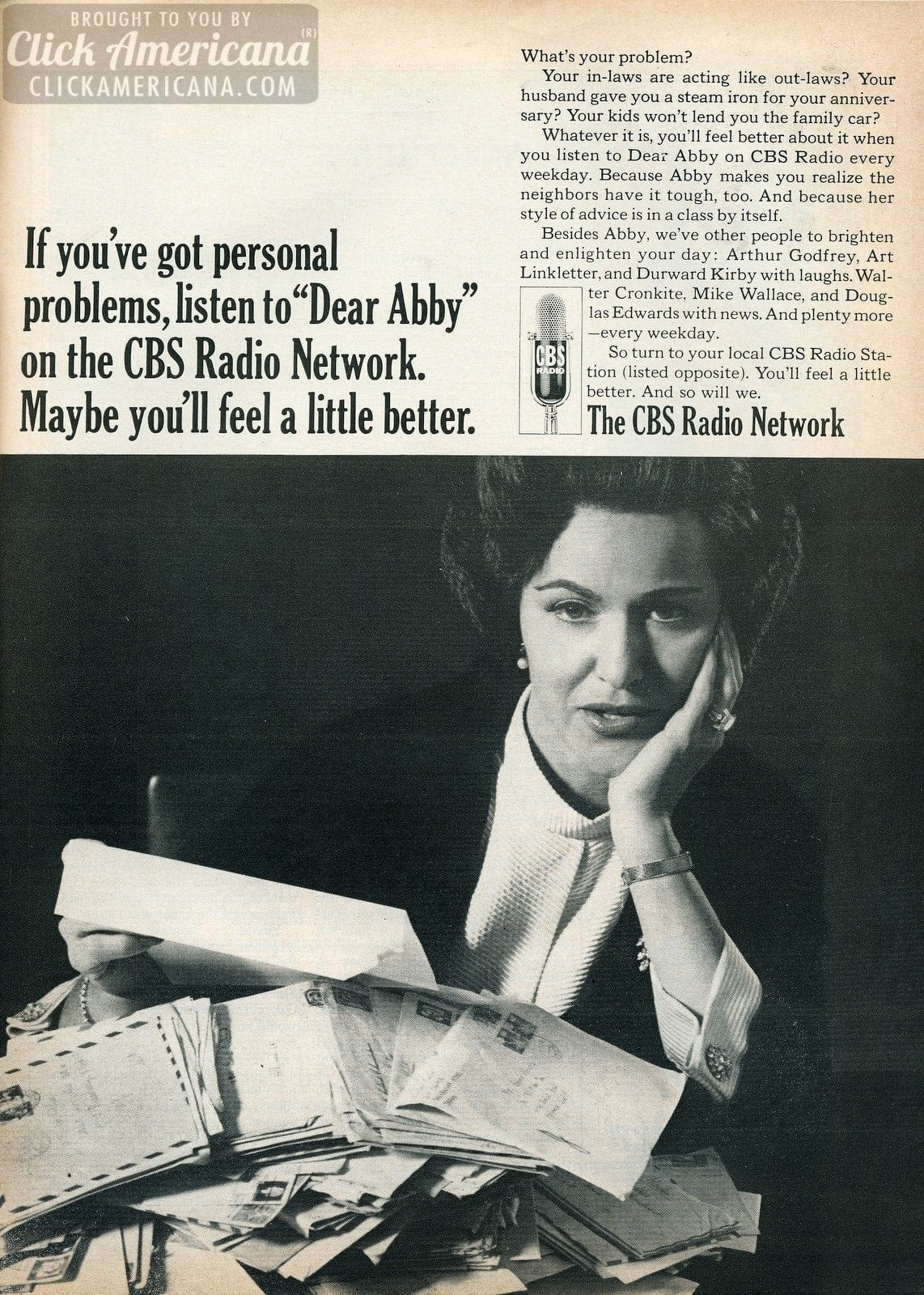 News, advice, comedy & more on the CBS Radio Network (1960s) - Click