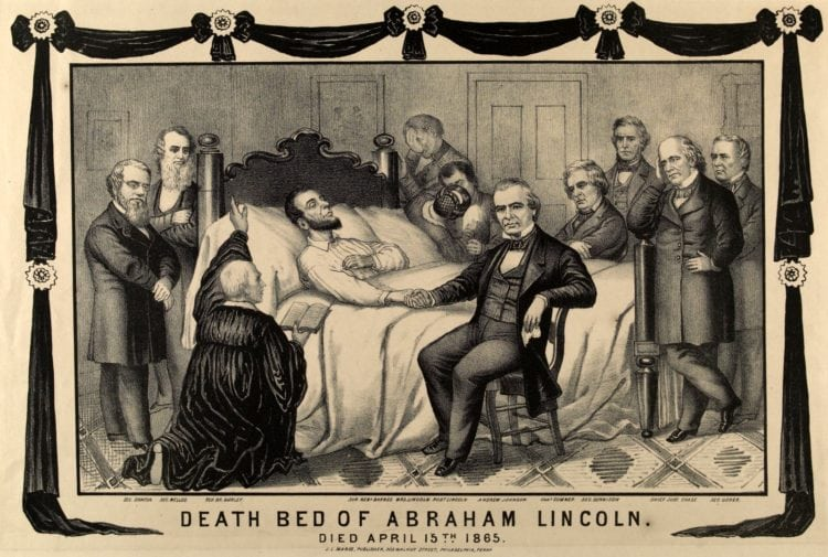 Death Bed of Abraham Lincoln 1865