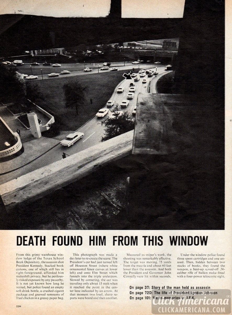 Death found Kennedy from this window (1963)
