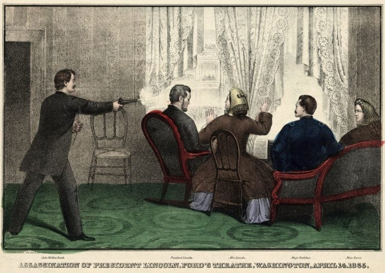 Death of President Lincoln at Ford's Theatre, Washington