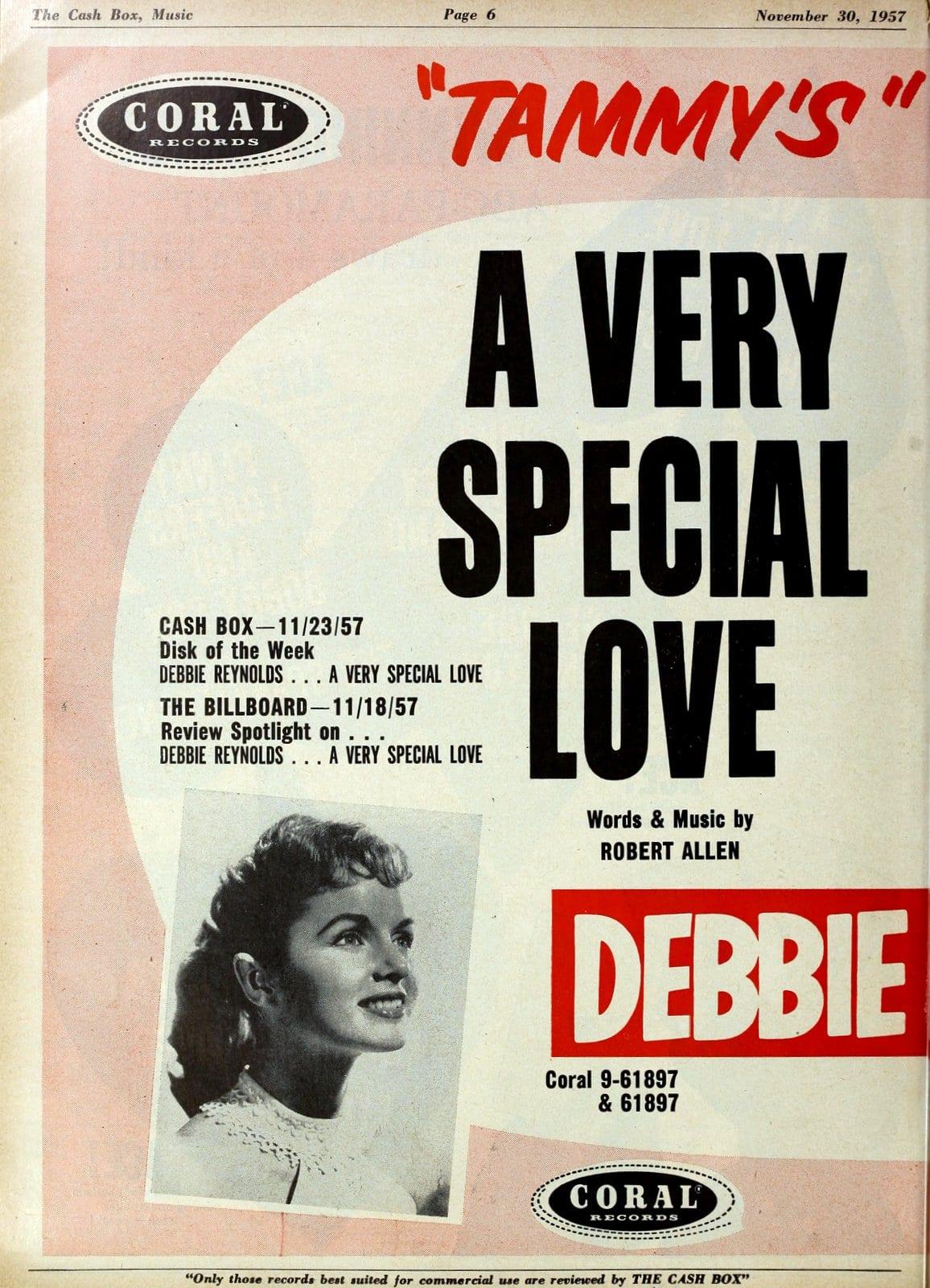 Debbie Reynolds - Tammy - A Very Special Love (1957)