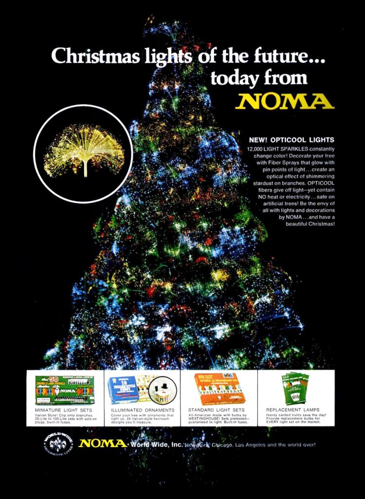 Dec 10, 1971 Noma Christmas lights
