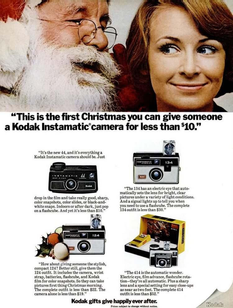 Dec 12, 1969 Kodak cameras