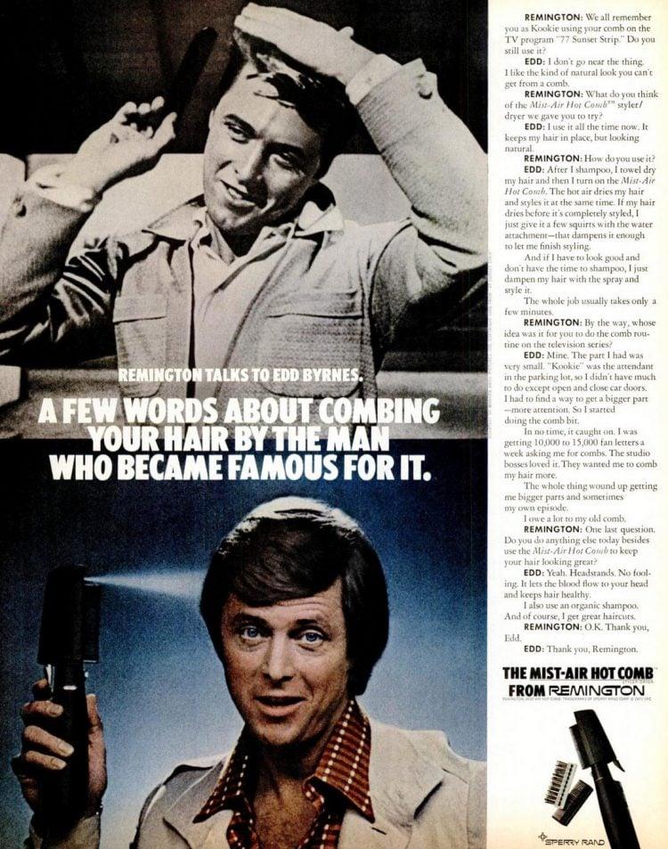 Dec 15, 1972 Men grooming beauty fashion hair