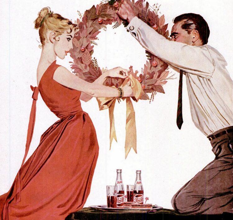 Dec 16, 1957 Christmas wreath