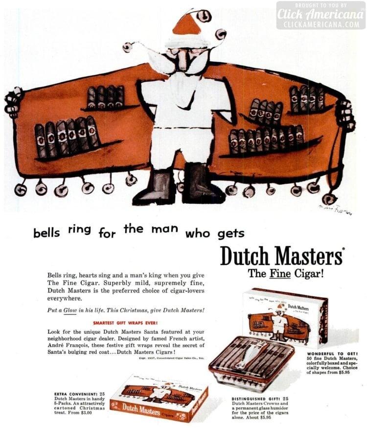 Dec 16, 1957 Cigars flashing Santa