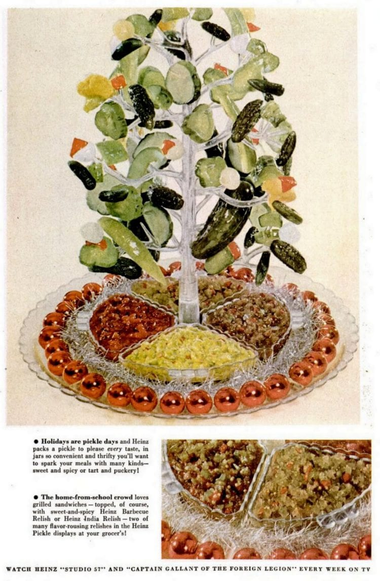 Dec 17, 1956 Christmas pickle tree
