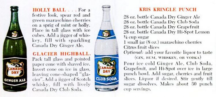 Dec 1961 Canada Dry Holiday punch - Christmas (2)